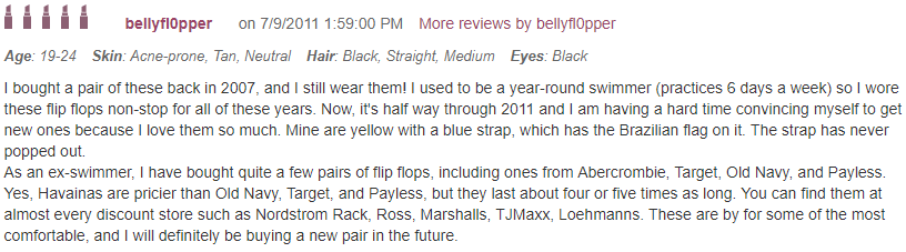 Havaianas flip-flops reviews, 3