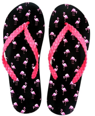 Midwest / G! Fun in the Summer Sun Flamingo All Over Print Flip Flops