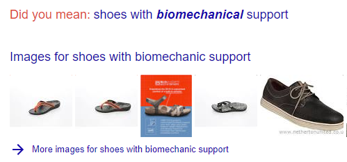 Shoes with biomechanical support